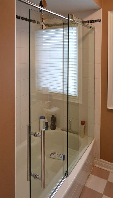 sliding glass shower doors tub showerhaus sliding glass shower doors