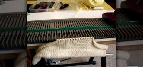 how to use a knitting machine how to hang a rag hem on knitting machine 171 knitting