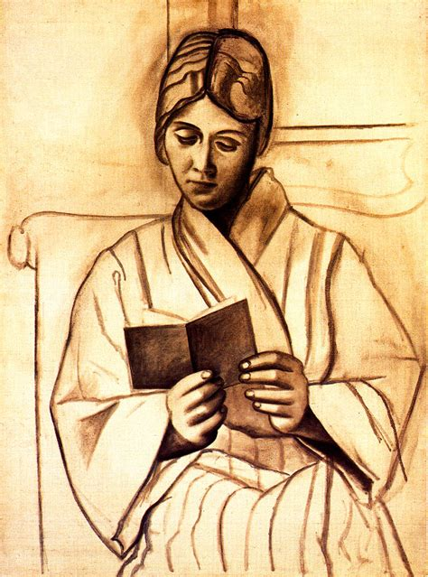 picasso paintings reading reading 1920 pablo picasso biblioklept