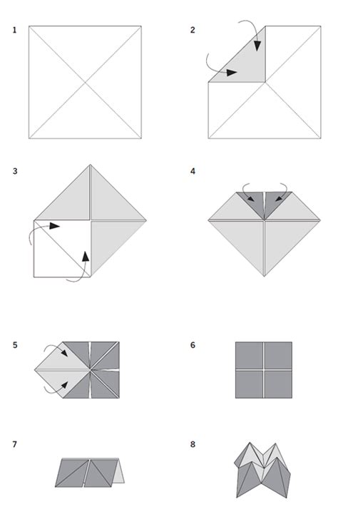 fortune teller origami ideas cootie catcher inenart