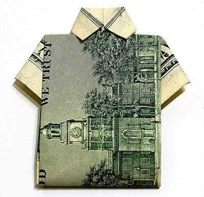 shirt money origami cool money origami pictures cool things collection