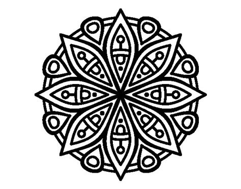 mandala for the concentration coloring page coloringcrew com