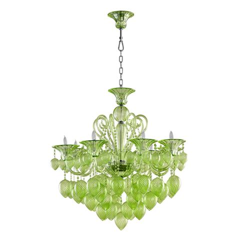 green glass chandelier vetro 8 light pale green murano glass chandelier
