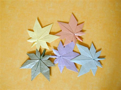 origami stem and leaf from the archive dozens of autumn crafts free patterns
