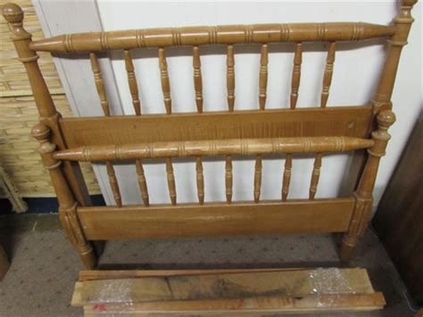bed frame with rails lot detail wood bed frame with rails