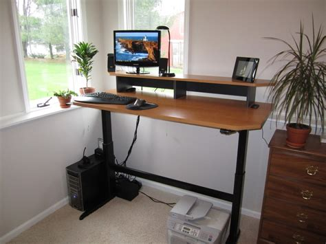 standing desk heights how i made my adjustable height standing desk optimwise