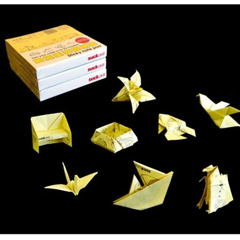 origami sticky notes origami sticky note pad iwoot