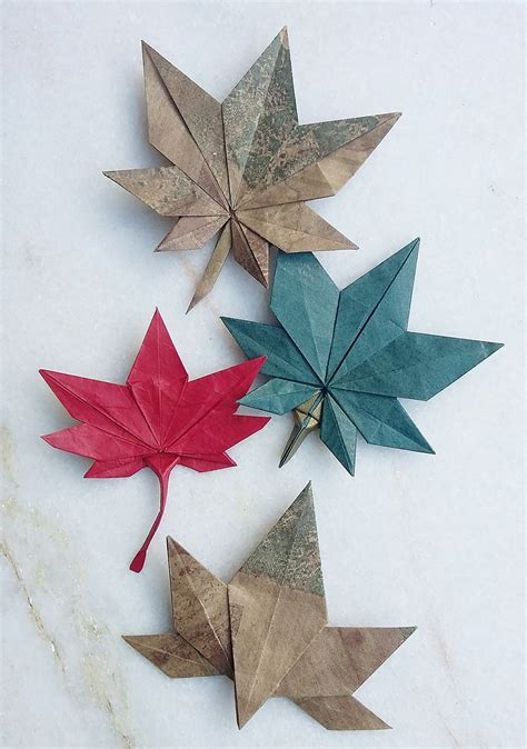 origami leaf this week in origami autumn leaves edition