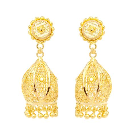 earrings design earrings sunflower design gold earring grt jewellers