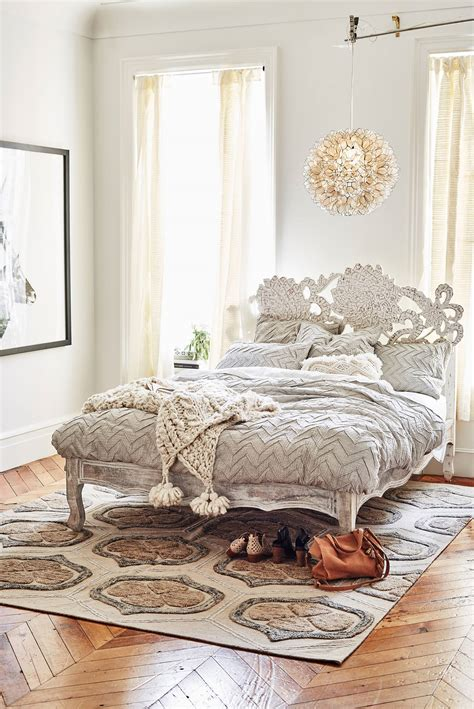 lotus bed frame handcarved lotus bed anthropologie