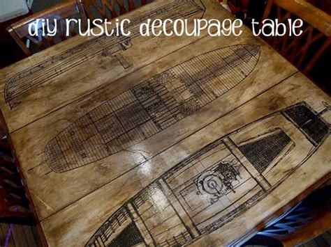 can you decoupage on wood how to aged paper decoupage diy table refinishing project