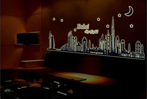 glow in the paint abu dhabi glow in the luminous dubai city vinyl removable