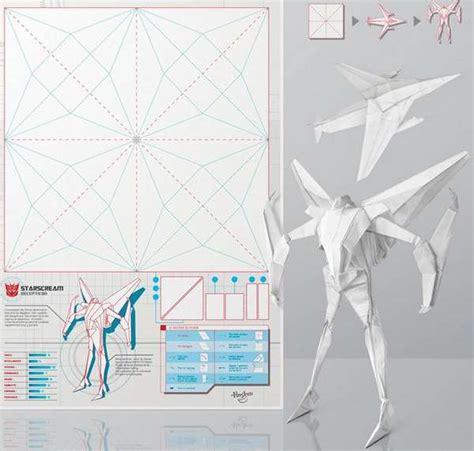 origami transformer origami ads transformable press ad