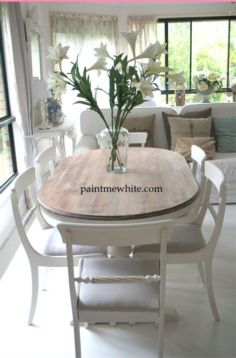 chalk paint ideas for dining table dining table makeover whitewash table top and white