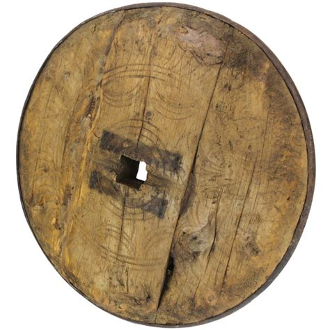 ancient woodworking ancient wood forged iron wagon wheel at 1stdibs