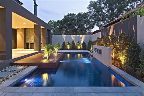 contemporary backyard with asian themes on melbourne by cos design stylish