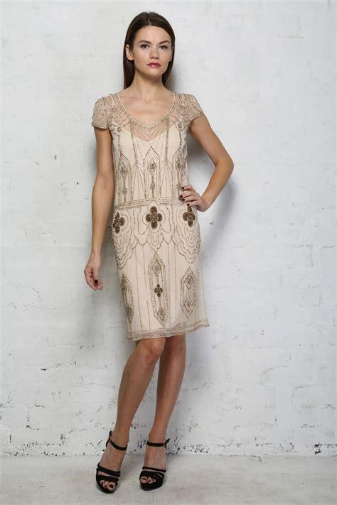 ivory beaded dress ivory beaded flapper dress vintage sequinned dress