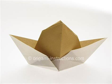 how to make a hat out of card origami cowboy hat folding