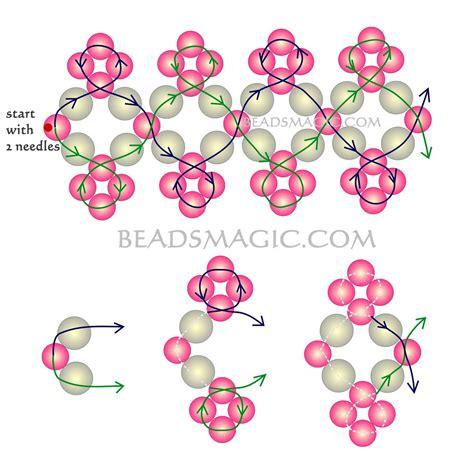 free beaded bracelet patterns free pattern for beaded bracelet michaela magic