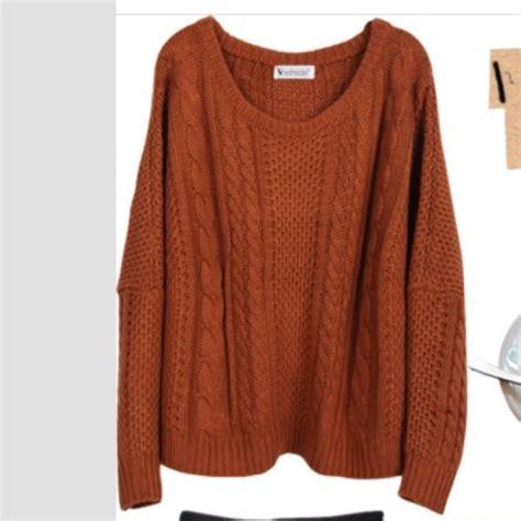 burnt orange cable knit sweater burnt orange knit sweater on the hunt