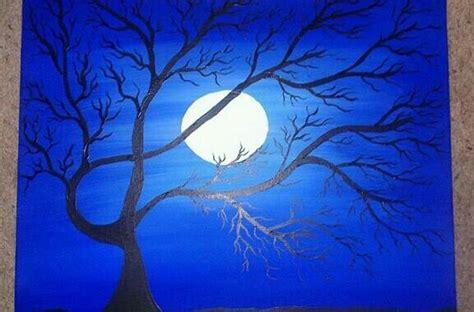 acrylic painting moon moon acrylic painting