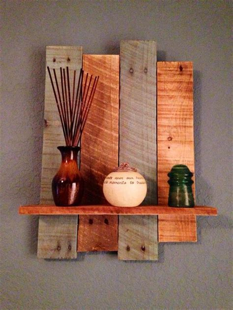 decorative woodwork diy rustic pallet wall shelf 101 pallets