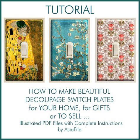 Decoupage Tutorial For Covered Switch Plates Complete