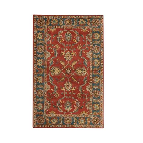 home decorators area rugs home decorators collection aristocrat rust 6 ft x 9