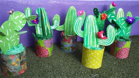 and crafts tin can cardboard cactus craft crafts