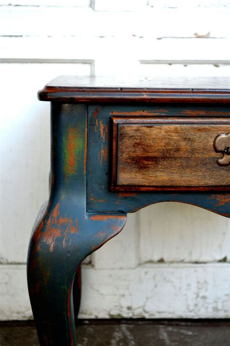 chalk paint not distressed chalk painted rustic shabby chic blue and by