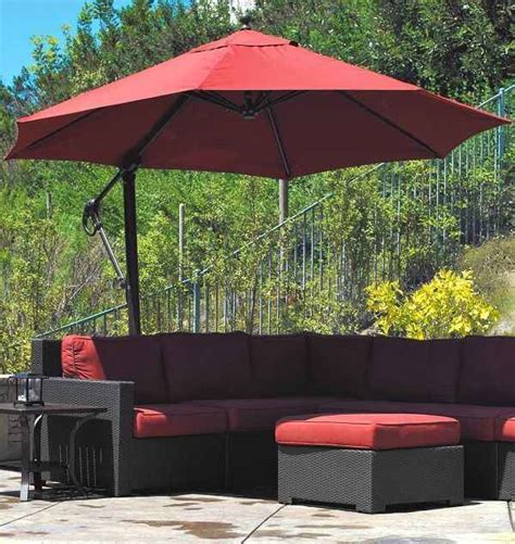 patio umbrella lowes 7 offset patio umbrella lowes to decor your outdoor space