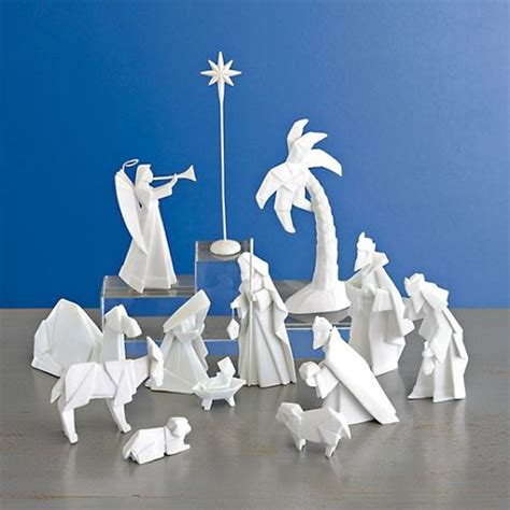 origami nativity set porcelain origami nativity set nativity sets