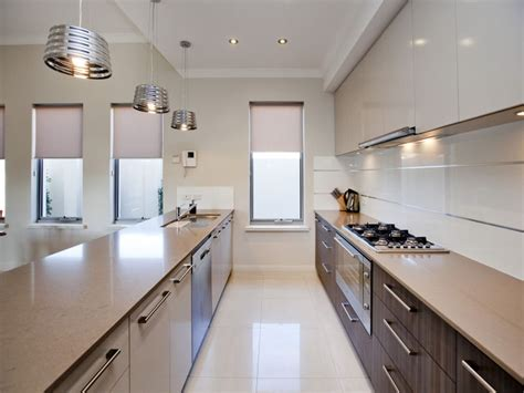 small galley kitchen design ideas contemporary small modern galley kitchen design using polished concrete