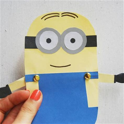 minion crafts for minion paper doll family crafts