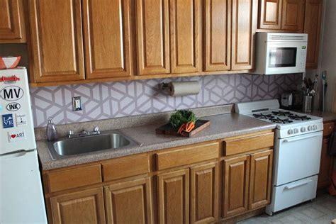 paint kitchen backsplash how to paint a geometric tile kitchen backsplash