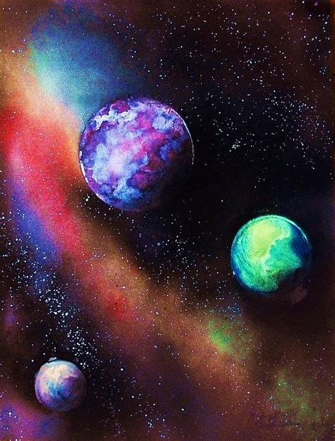 spray paint nebula 1000 ideas about space painting on painting
