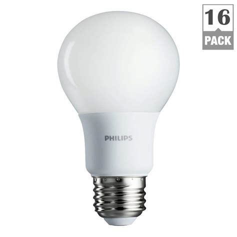 home depot led light bulbs philips 60w equivalent soft white a19 led light bulb 16