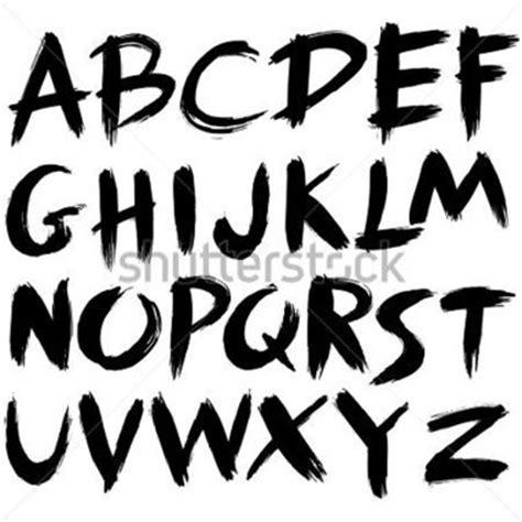 grunge spray paint font dessin 233 e alphabet de coup de pinceau style