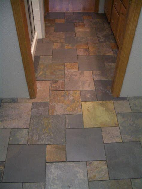 Design Ideas For Bathrooms slate pinwheel bathroom floor