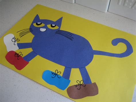 cat crafts for pete the cat happy home