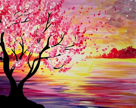 paint nite oakville 25 best ideas about cherry blossom painting on