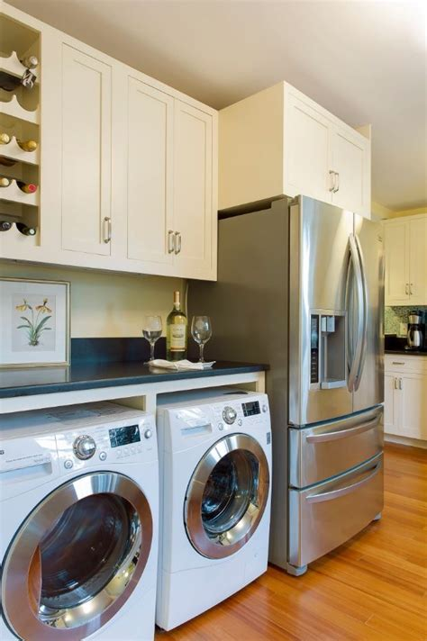 laundry in kitchen design ideas laundry kitchen functional space combination small design ideas
