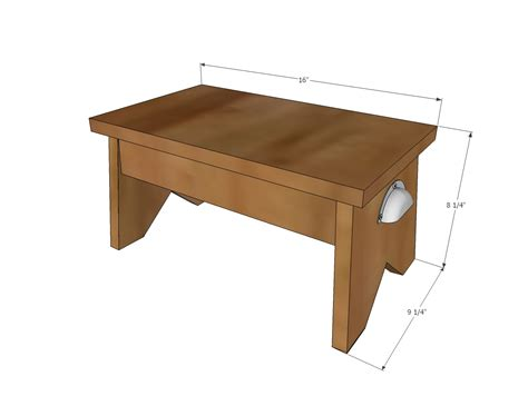 step stool plans woodworking white simple 1x10 single step stool diy projects