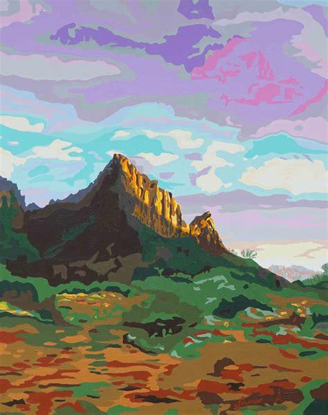 zion acrylic painting magic of zion original acrylic painting