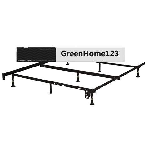 metal bed frame size size metal bed frame with glides and headboard
