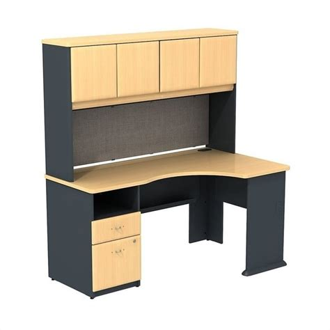 desk with storage series a expandable corner desk with 60w hutch storage