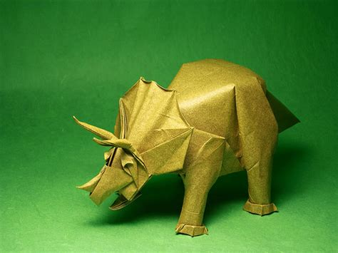 origami of dinosaur 920 origami a hobby for all ages 1k smiles