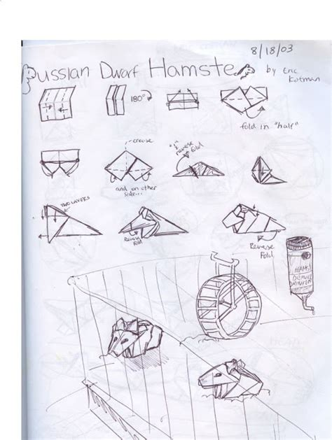 how to make an origami hamster origami animals