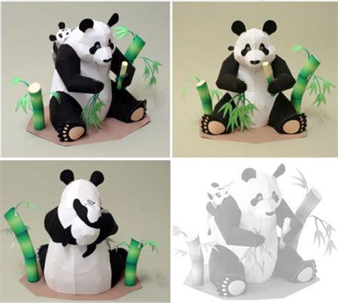 paper craft panda paper animal crafts animal panda papercraft craft