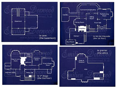 halliwell manor floor plan charmed halliwell manor blueprints tv